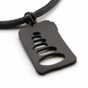 Cairn Pendant | Black Stainless Steel | 2mm Polycord