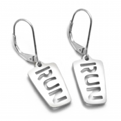 Run Earrings | Stainless Steel