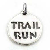 Trail Run Charm | Sterling Silver