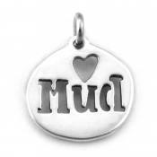 Mud Love Charm | Sterling Silver