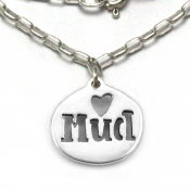 Mud Love Necklace | Sterling Silver | 18 inch Silver Chain