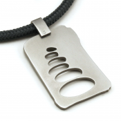 Cairn Pendant   Stainless Steel   Slate   3mm Polycord