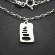 Cairn Charm | Sterling Silver | 18 inch Silver Chain