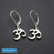 Om Earrings | Sterling Silver