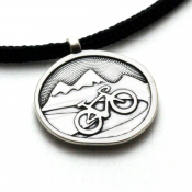 Highway to Heaven Pendant | Sterling Silver | 2mm Polycord