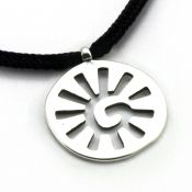 Sun Pendant | Sterling Silver | 2mm Polycord