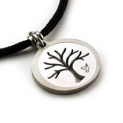 Tree Pendant | Stainless Steel | 2mm Polycord