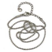 16-18 inch 1.5mm Adjustable Ball Chain