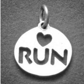 Love 2 Run Charm | Sterling Silver