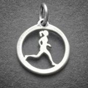 Running Gal Charm | Sterling SIlver